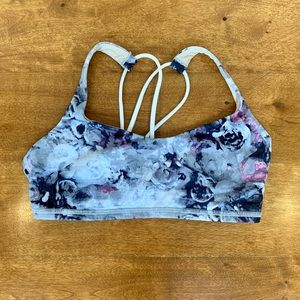 Lululemon Free To Be Strappy Bra Floral Print